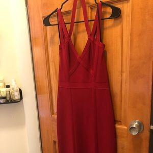 Bebe Red Dress - size: small